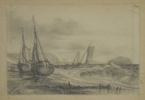 Image of [Beached Boats] - Johnston, David Claypool, 1799-1865